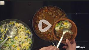 Chef Paul Treyvaud cooks Grenn Thai Lamb Stew on Ireland AM on Virgin Media Dublin Ireland