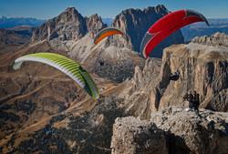 Flying above the Dolomites