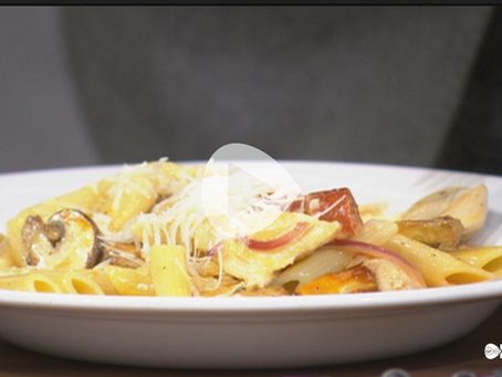 Cooking Chicken and Chorizo Pasta on Ireland AM