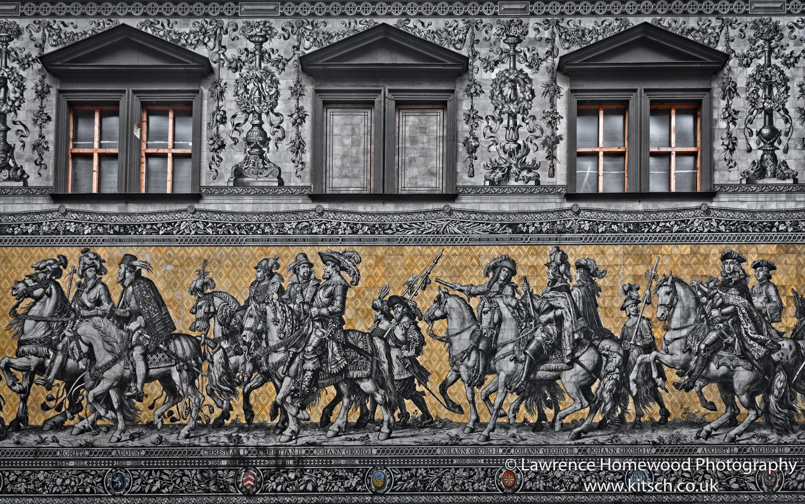 Dresden Processionof Princes Wall Mural close up