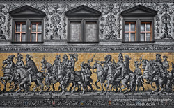 Dresden Processionof Princes Wall Mural close up