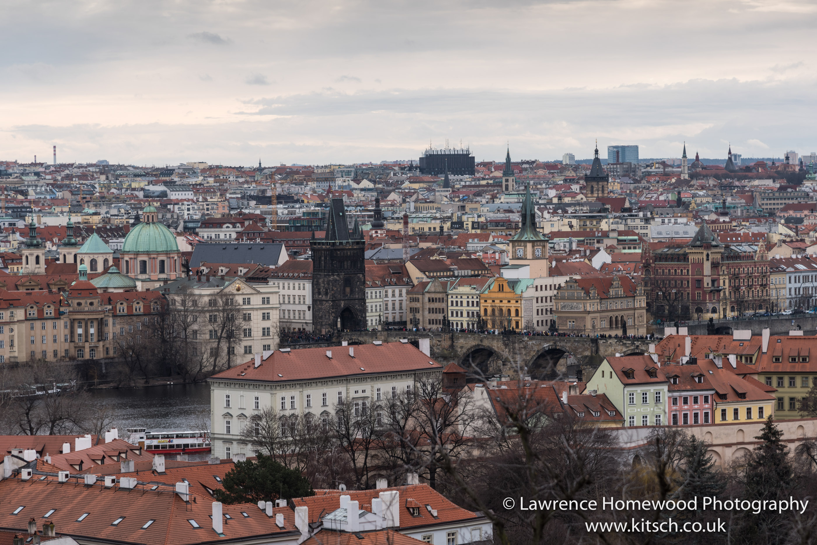 Prague Castle view of Charles Bridge