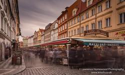 Buzzing Market Stalls Prague 1