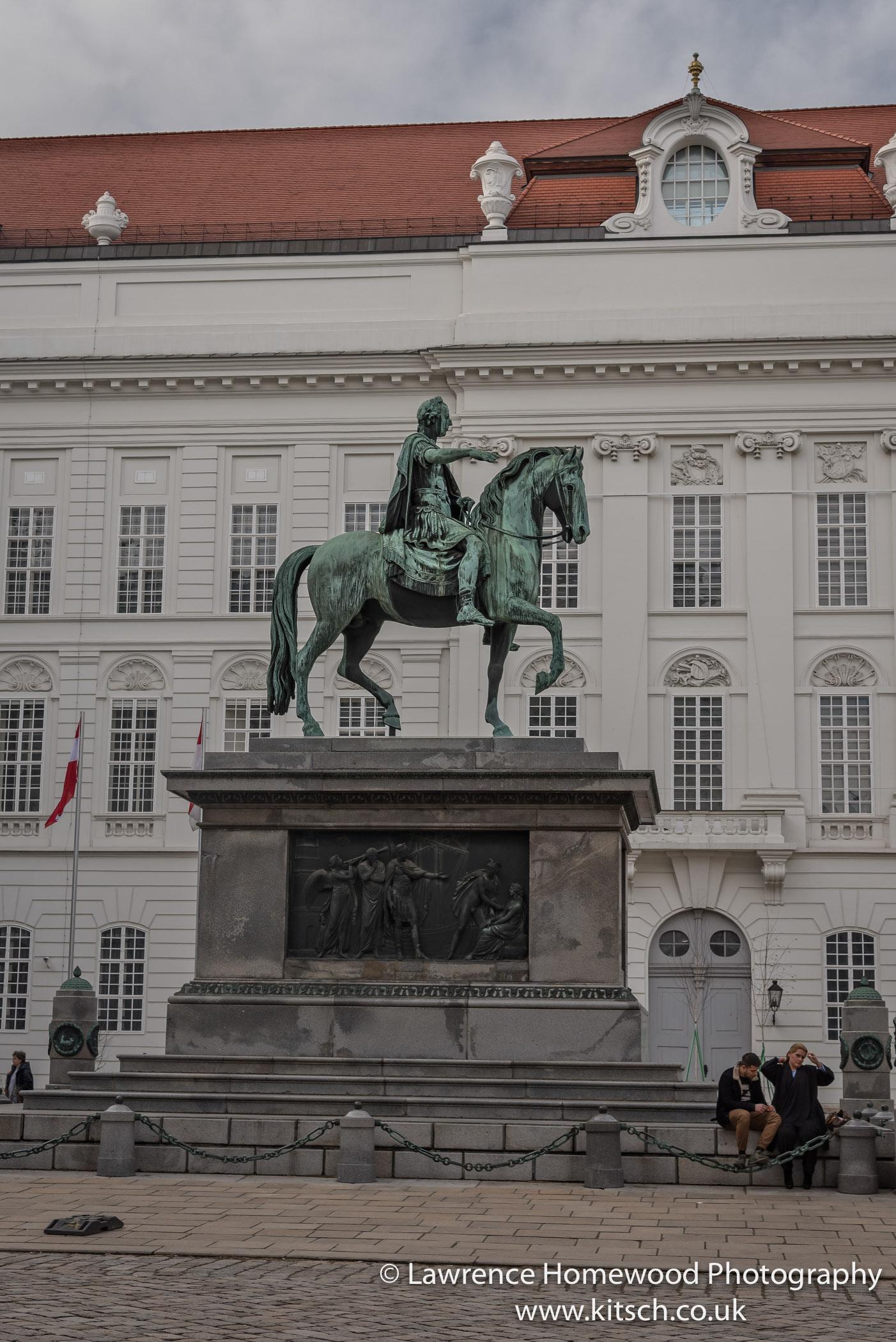 statue of Emperor Joseph II in Josephplatz Hofberg Palace 1