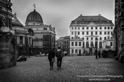 Dresden walking away