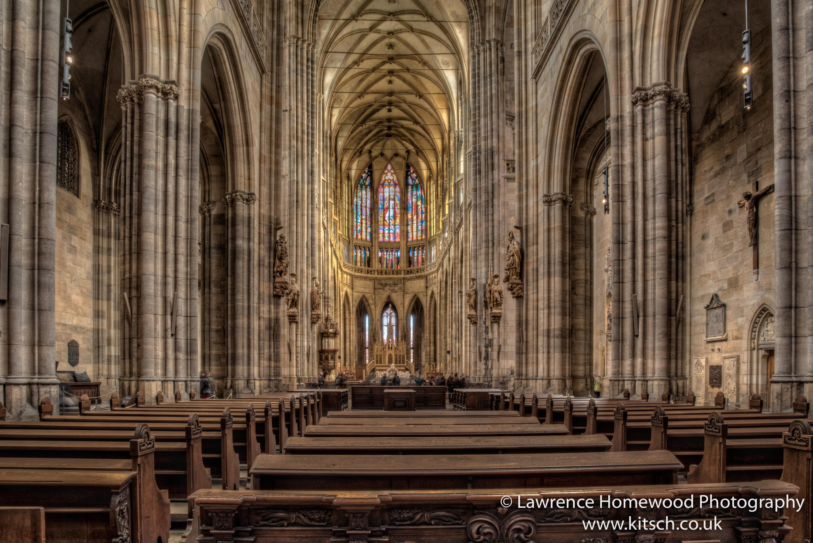 St Vitus Cathedral Prague Interior 1
