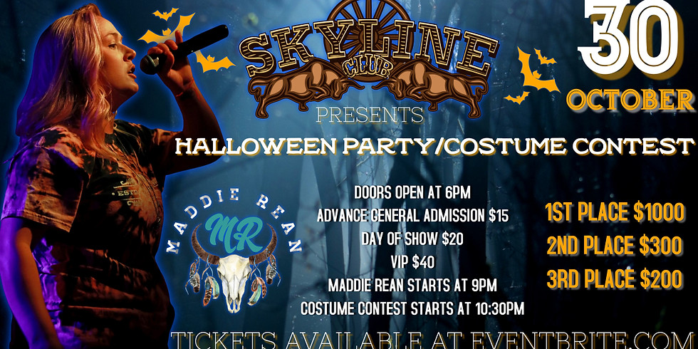 SKYLINE CLUB HALLOWEEN PARTY/COSTUME CONTEST