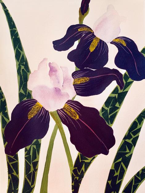 14. Irises III