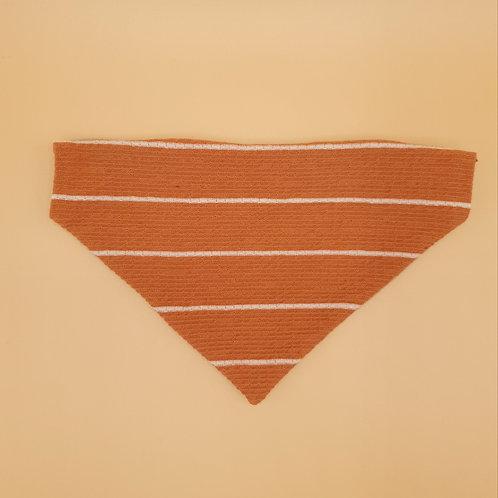 Pumpkin Spice Stripe Bandana