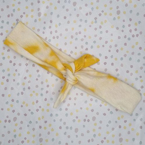 Yellow Tie Dye Neckerchief or Headband