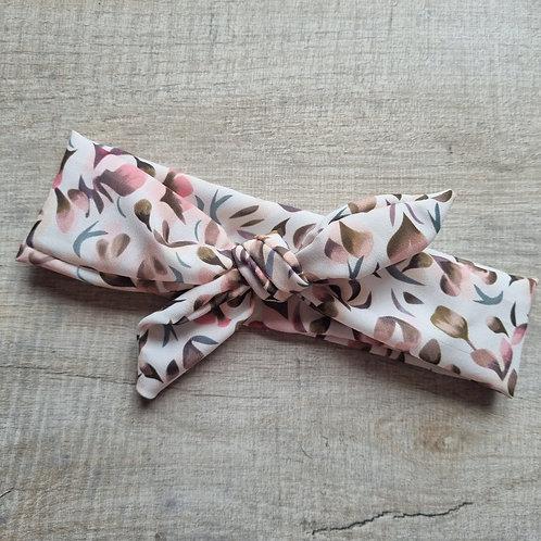 Neutral Summer Floral Neckerchief or Headband