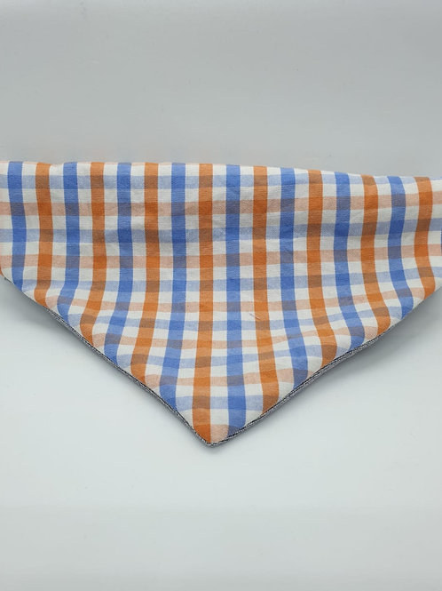 Blue & Orange Checkered Bandana