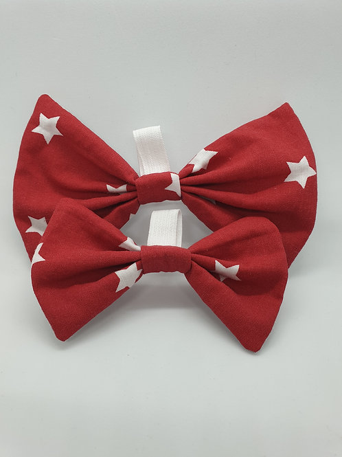Ruby Red Star Bow