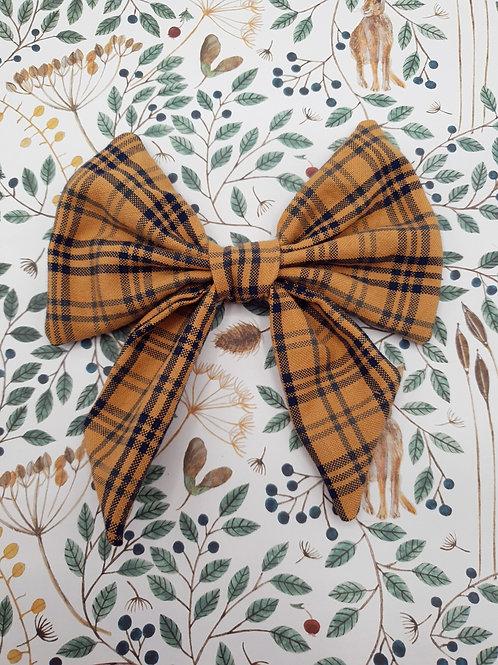 Pumpkin Check Sailor Bow Tie