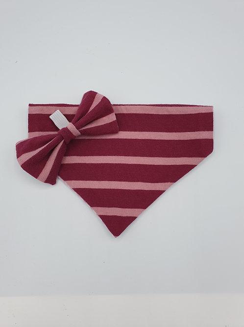 Raspberry Ripple Bow & Bandana Set