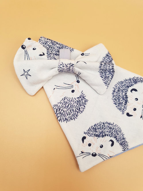 Autumn Hedgehog Bow & Bandana Set