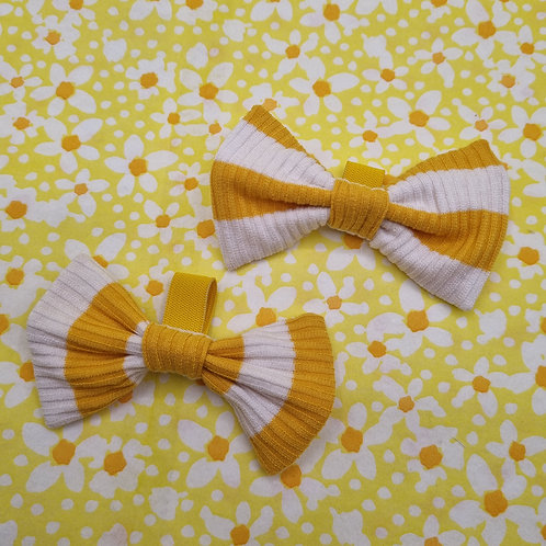 Honey Striped Bow
