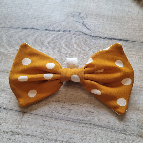 Yellow Polka Dot Bow
