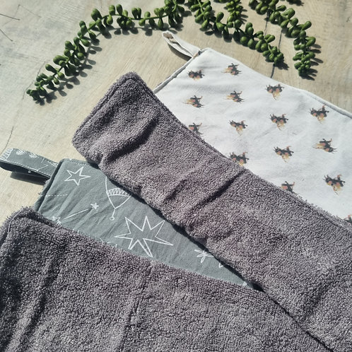Wet Chin or Paws Organic Bamboo Drying Towel
