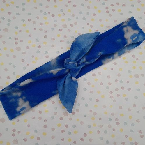 Blue Tie Dye Neckerchief or Headband