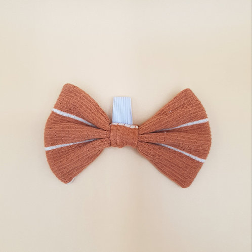 Pumpkin Spice Stripe Bow Tie