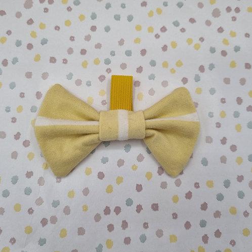 Yellow Stripe Bow