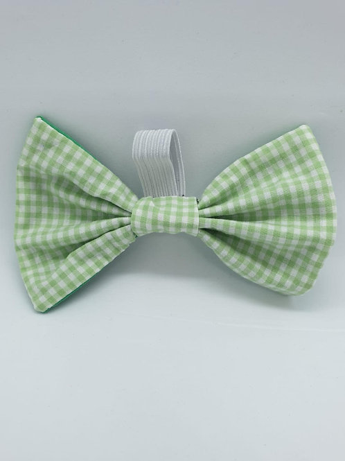 Minty Gingham Bow