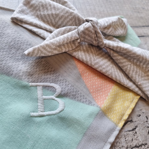 Single Embroidered Letter for Bandana