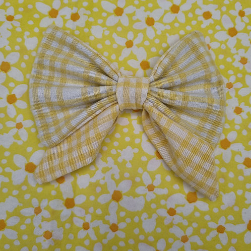 Spring Gingham Sailor Bow