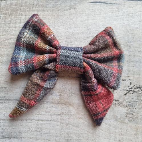 100% UK Wool Tweed Sailor Bow