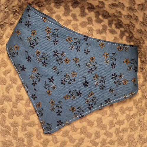 Bibbidy Blue Velcro Bandana