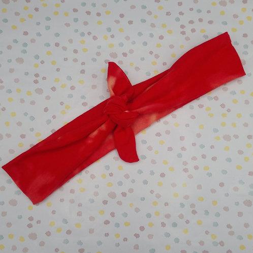 Red Tie Dye Neckerchief or Headband