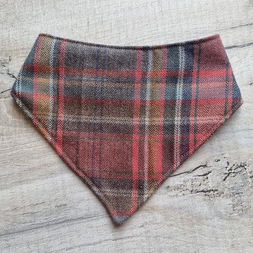 100% UK Wool Tweed Velcro Bandana