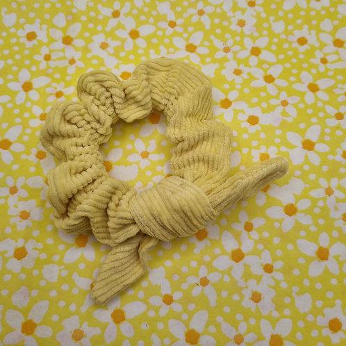 Lemon Corduroy Scrunchie