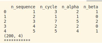 Output print Dataset e dimensioni Dataset