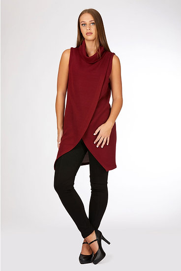 Sleeveless Roll Neck Tunic