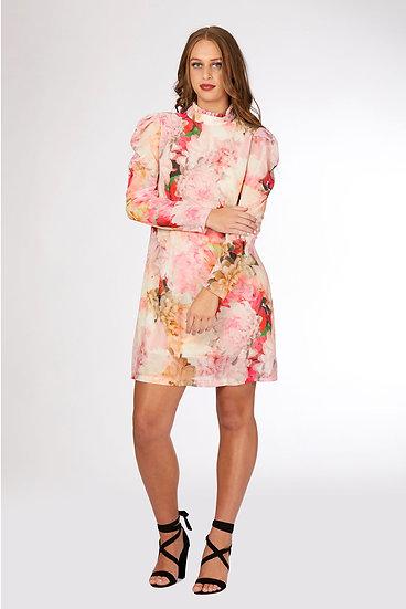 Sleeveless High Neck Tunic Dress