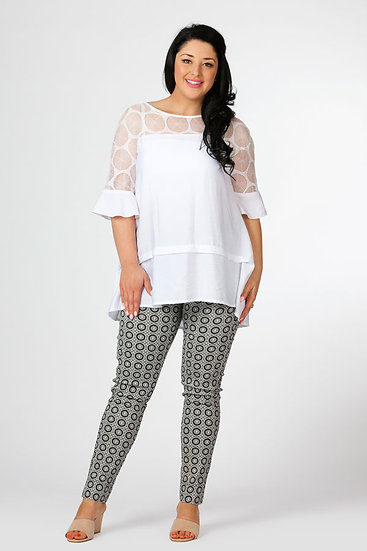 Sheer Yoke Tunic