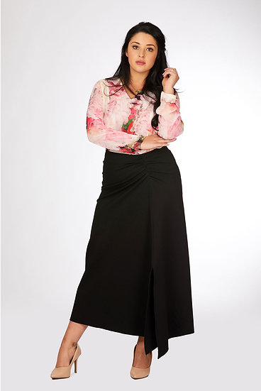Ruched Front Skirt