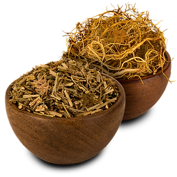 Quality organic whole sheep sorrel root and shoot herbs in a bowl