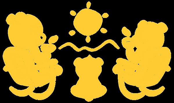 Tea bears enjoying a sip of essiac before a sunset doodle