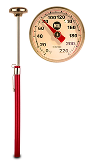 Food grade thermometer for brewing essiac tea