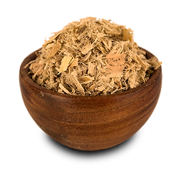 Quality organic slippery elm bark herbs in a bowl