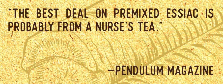 A Nurse's Tea Essiac Testimonial 12