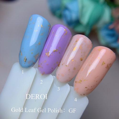 Gold Leaf Gel Polish : GF