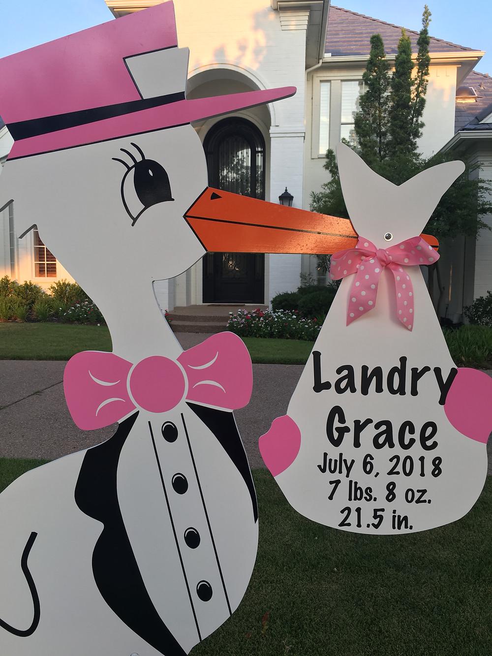 baby girl stork bundle
