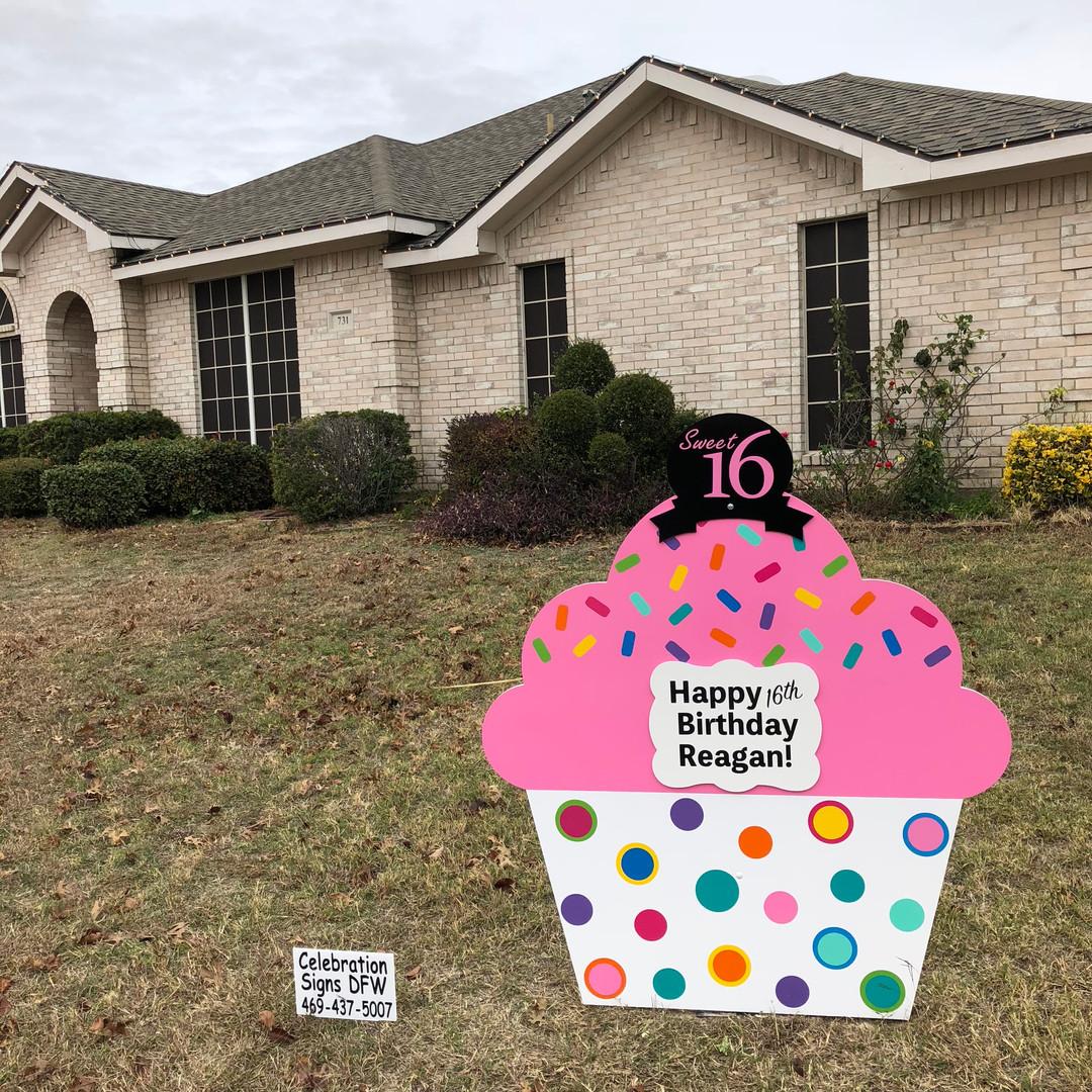 Sweet Sixteen Birthday Cupcake