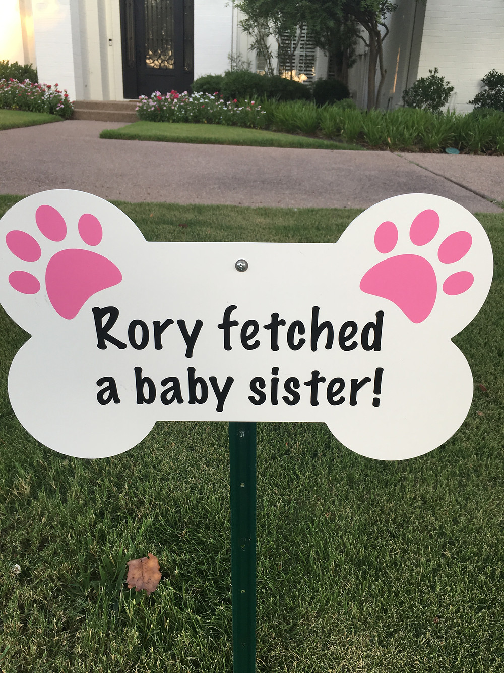 Dog bone welcome sign