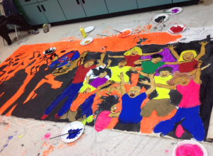 """""""Artist Day"""" with 3rd - 5th grade students!"""