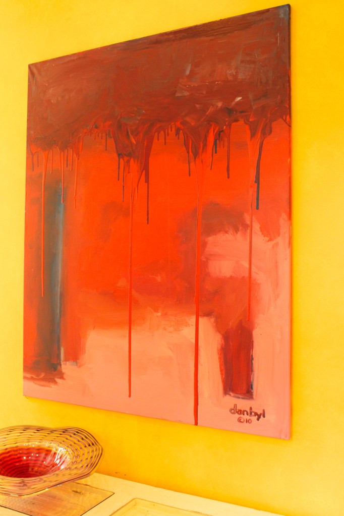 """Red Line"" Original Painting by Danny Byl"